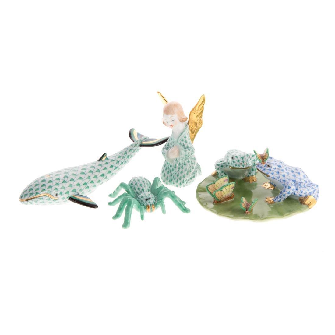 Four Herend porcelain figures
