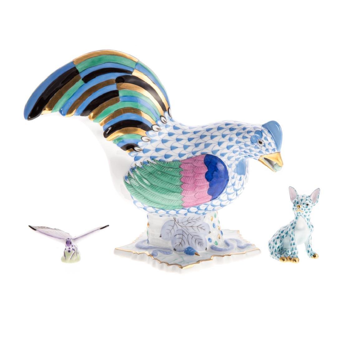 Three Herend porcelain animals