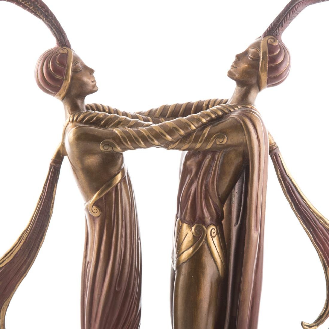 Erte, Kiss of Fire polychrome bronze - 2