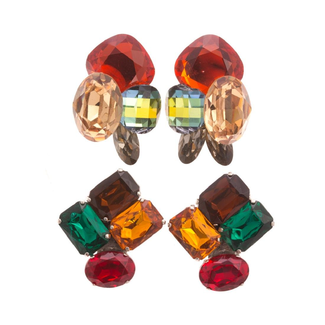 Two Pair of Colorful Belle Epoch Ear Clips
