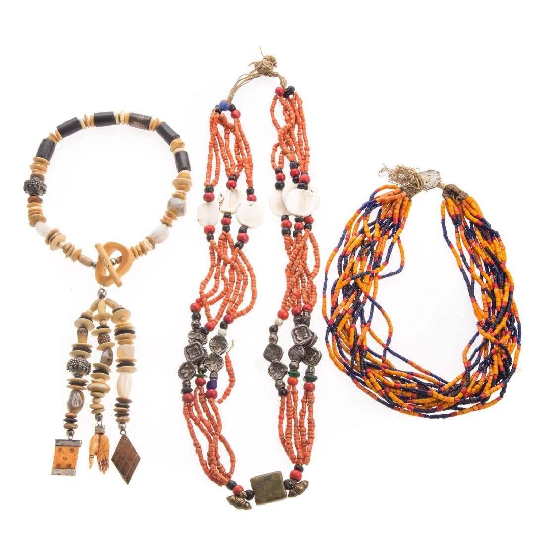 A Trio of Ethnic Necklaces from World Travels