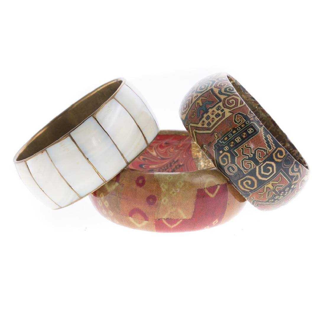 A Trio of Specialty Bangle Bracelets