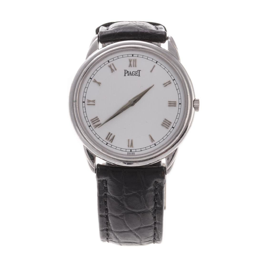 A Gent's White Gold Piaget Wrist Watch