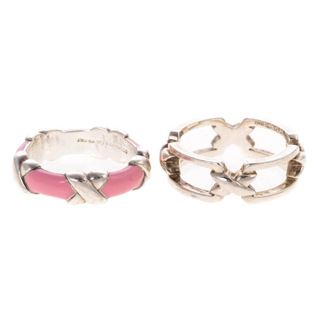 A Pair of Silver Tiffany & Co Stackable Rings