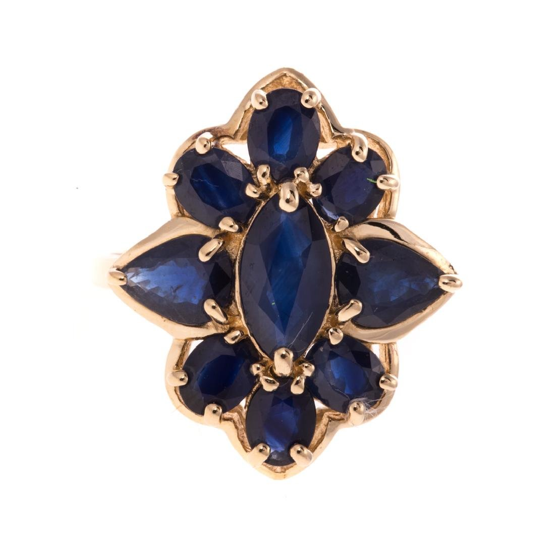 A Lady's Sapphire Ring in 14K Gold