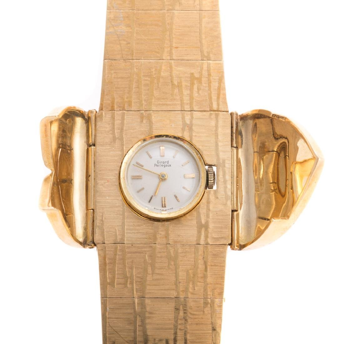 A Lady's 18K Girard Perregaux Covered Wrist Watch