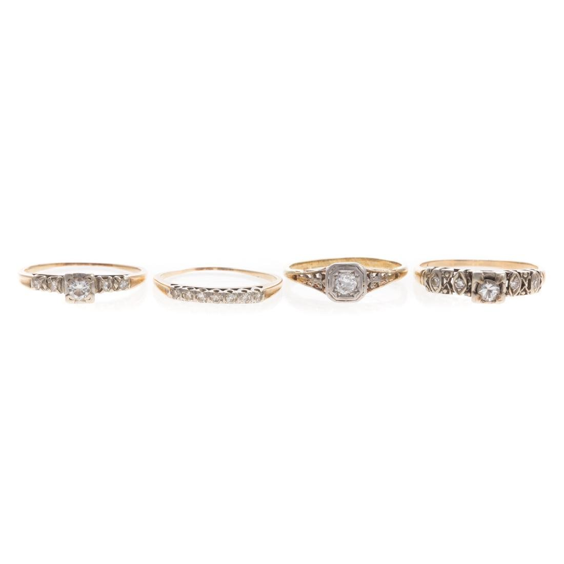 A Collection of Vintage Diamond Engagement Rings
