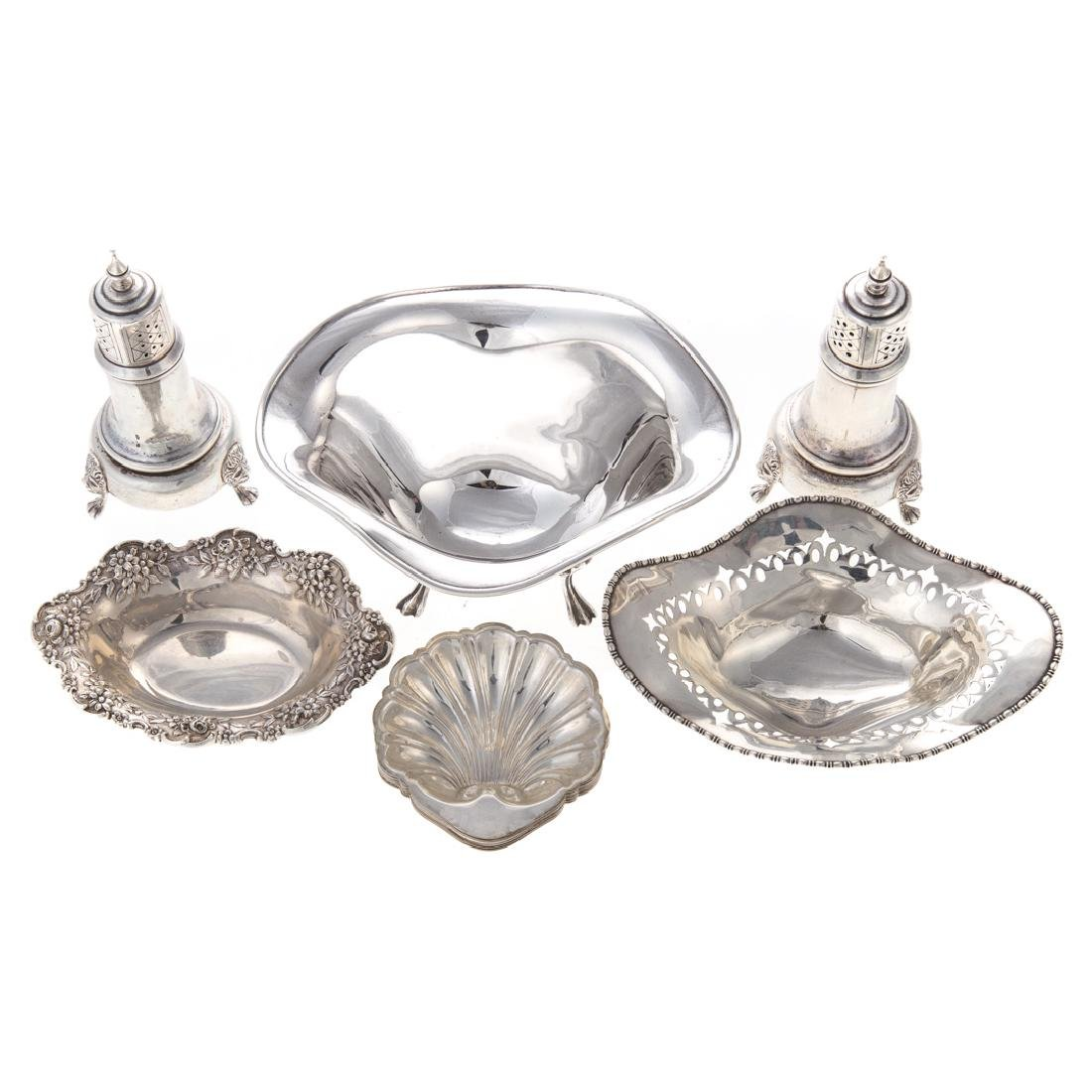Collection of small sterling silver tableware