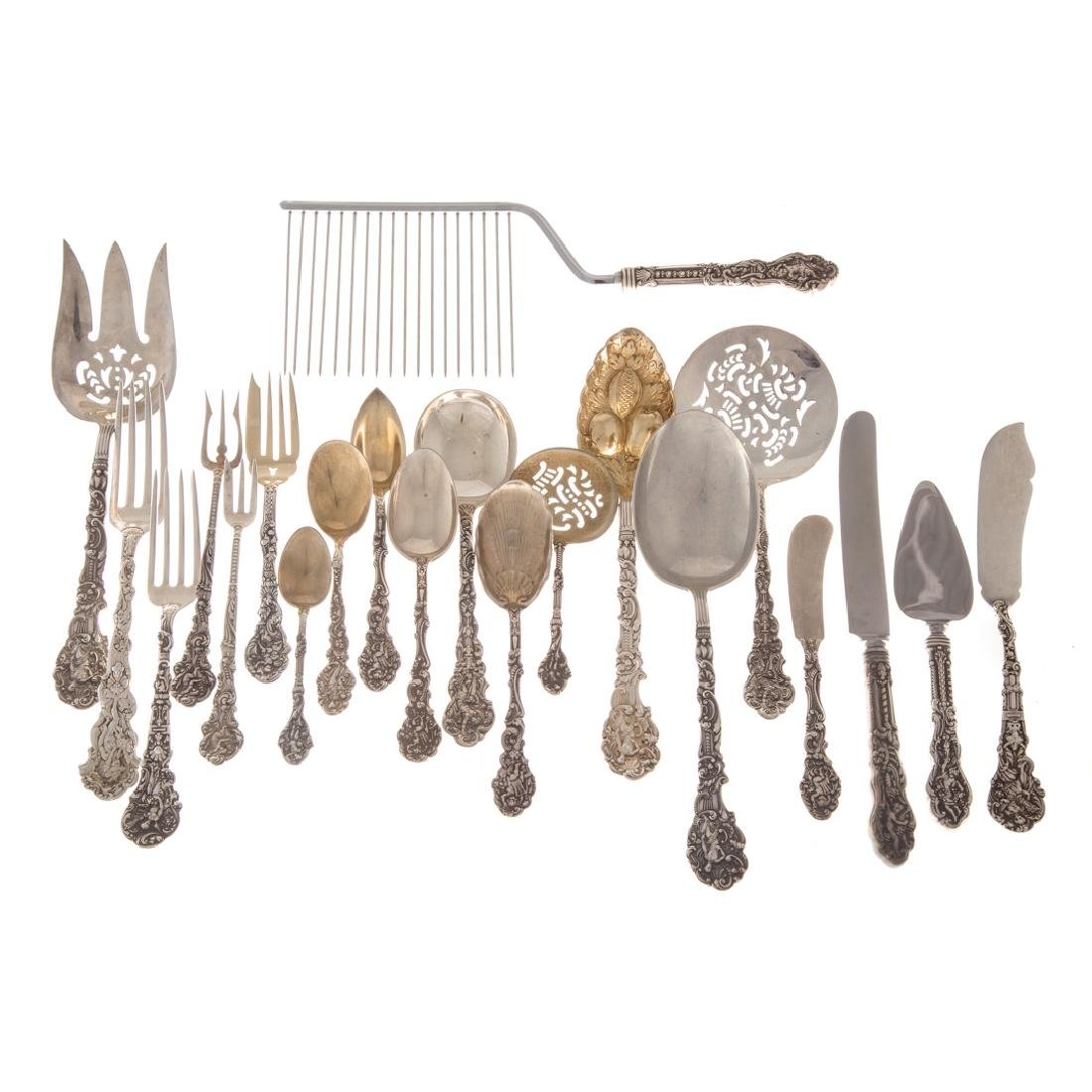 "Gorham ""Versailles"" sterling 142-pc flatware"