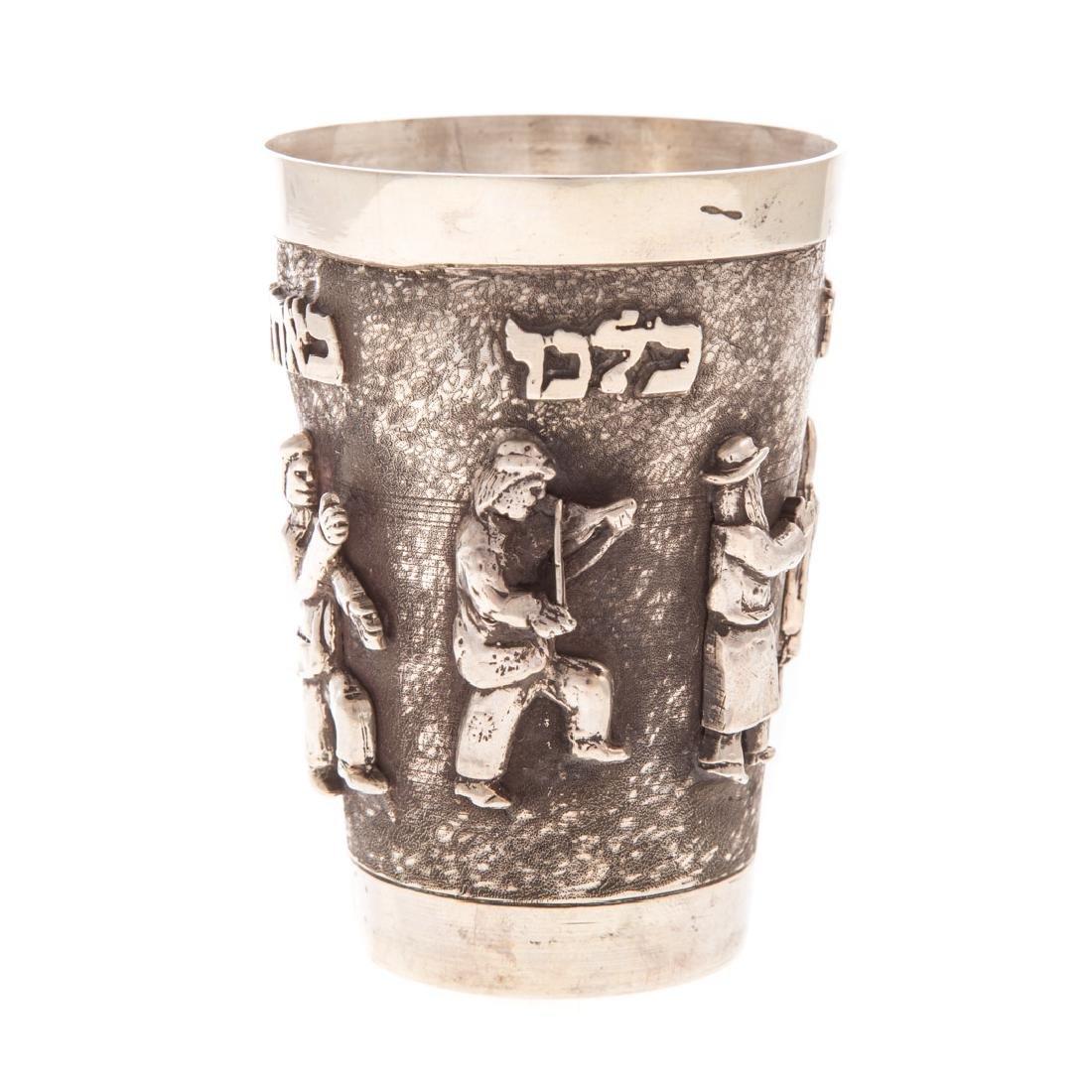 Judaica sterling kiddish cup