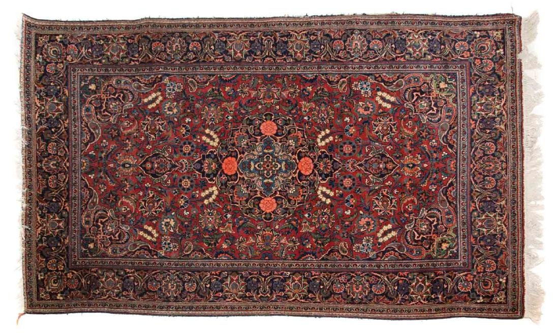 Antique Keshan rug, approx. 4.1 x 6.9