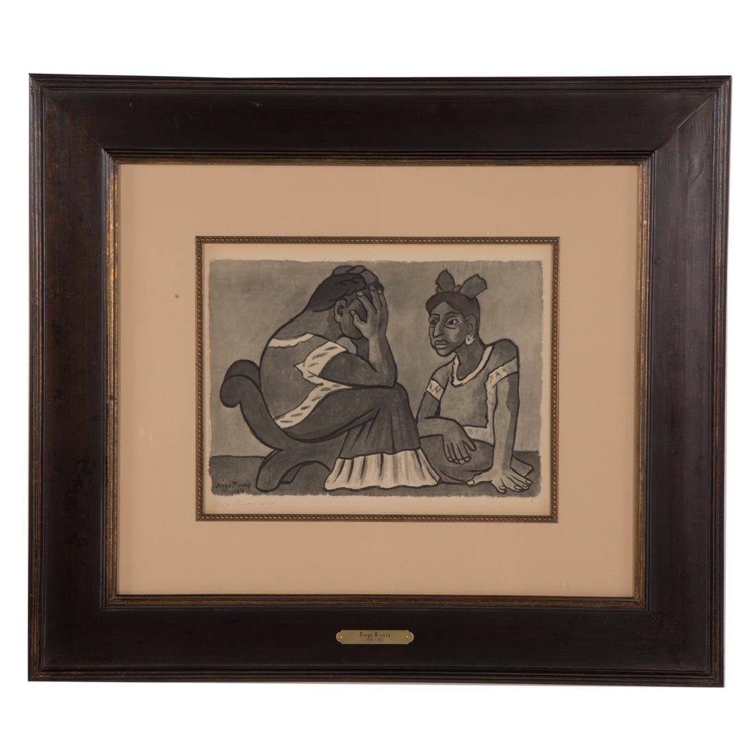 Diego Rivera. Untitled (Mourning Mother), litho