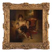 """After Thomas Lawrence. """"Mrs Maguire & Son,"""" oil"""