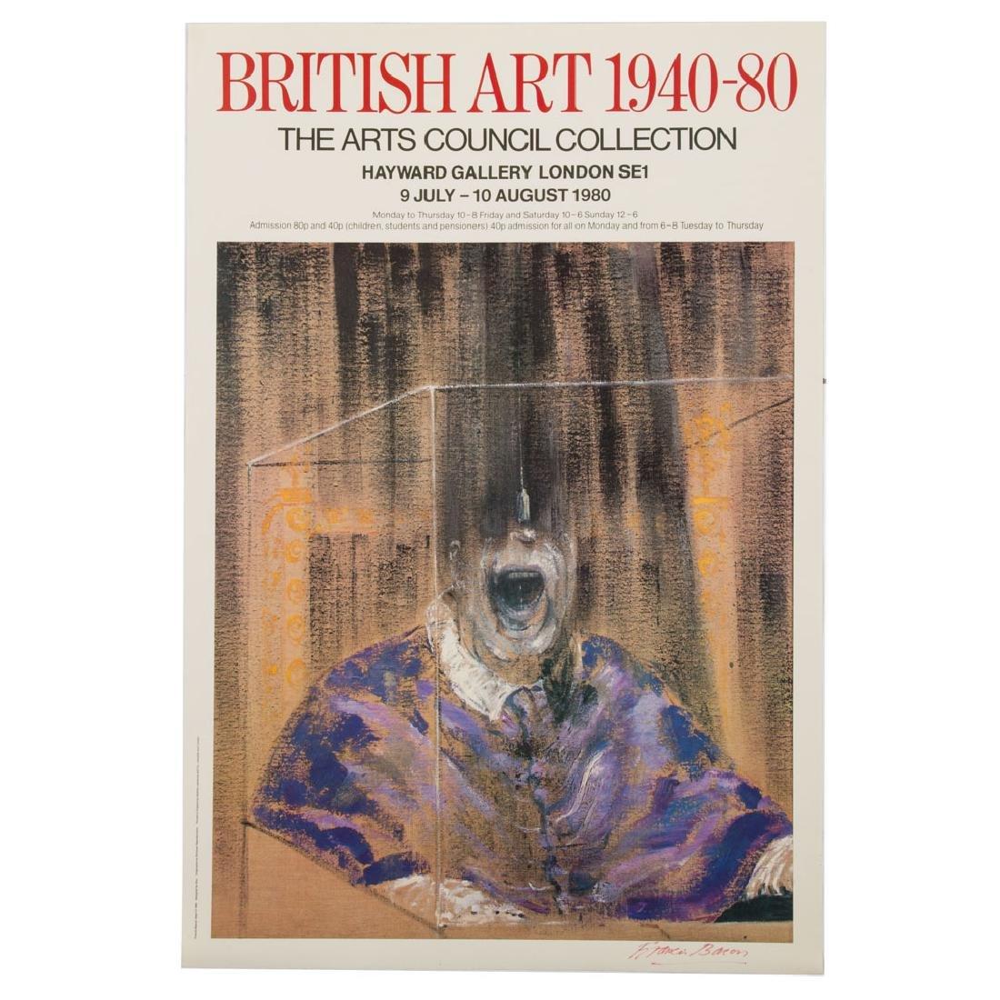 "Francis Bacon. ""British Art 1940-80,""signed poster"
