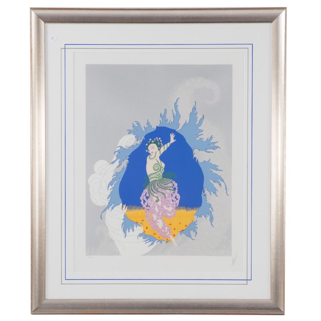 """Erte. """"The Coming of Spring"""", serigraph"""
