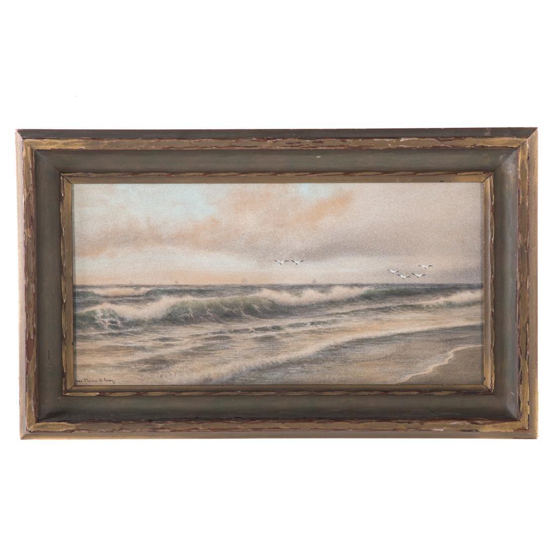 George Howell Gay. Crashing Waves, watercolor