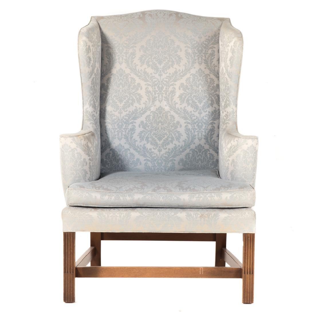 Kittinger George III style mahogany wing chair