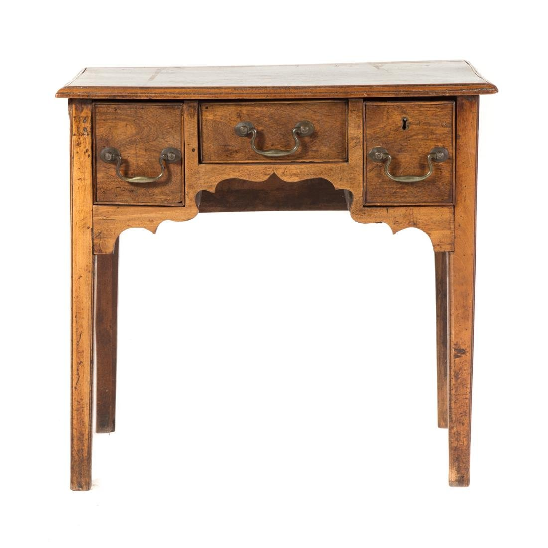 George III walnut dressing table