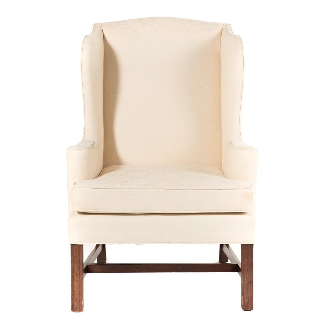 George III style mahogany wing chair