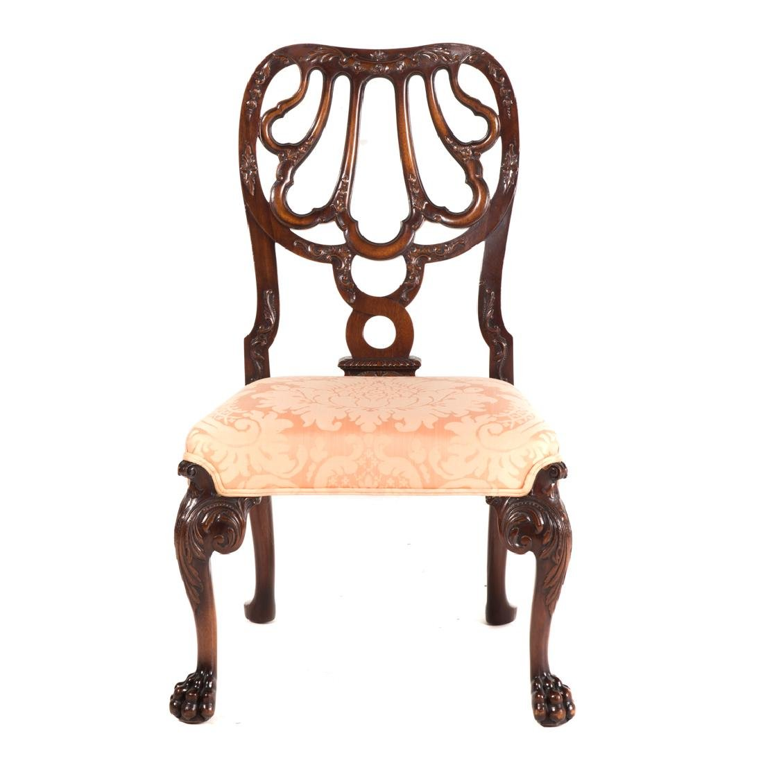 Irish Chippendale style mahogany side chair