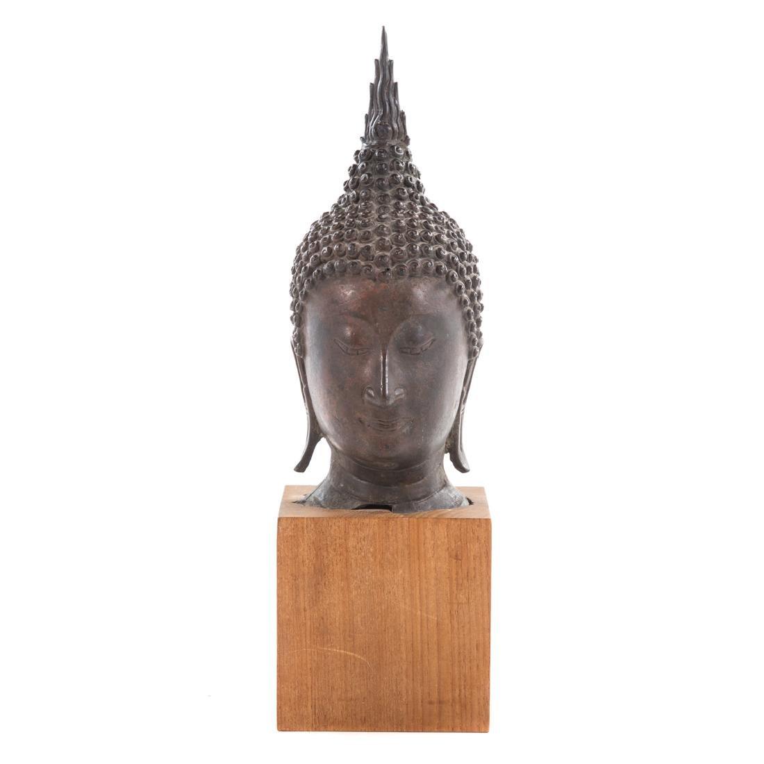 Thai bronze head of Buddha