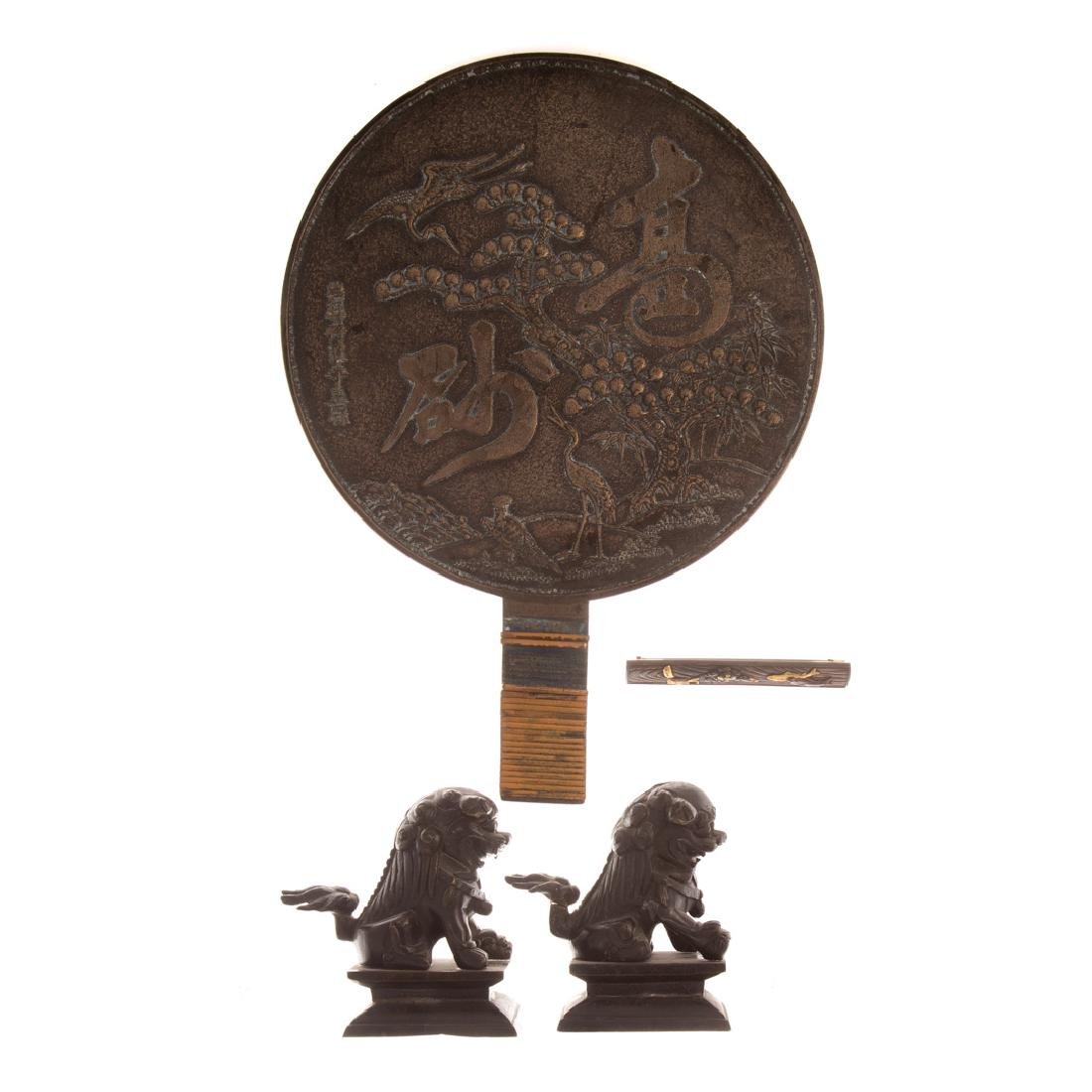 Four Asian metal objects
