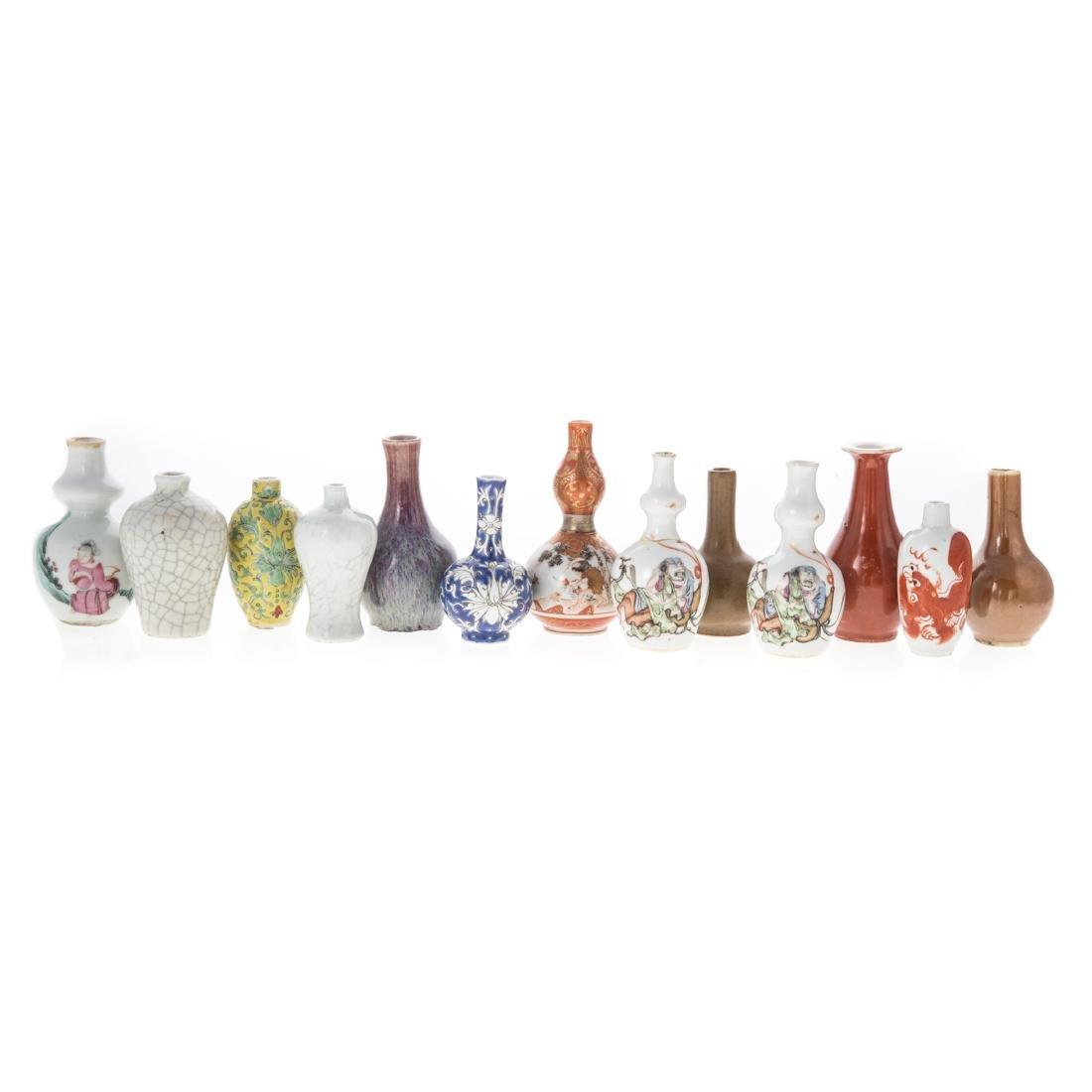 12 Chinese porcelain miniature vases