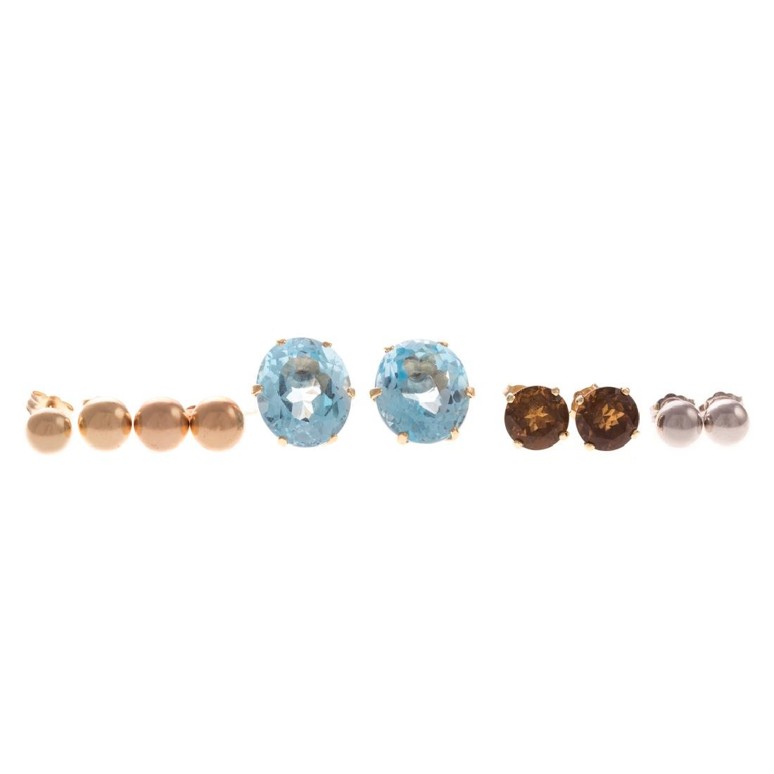 A Collection of Lady's Studs in 14K Gold