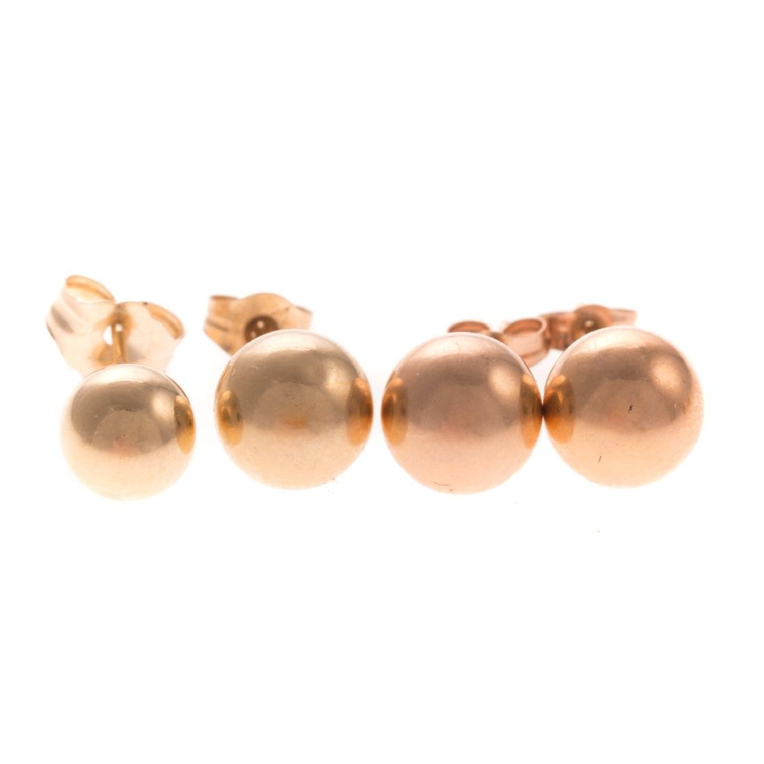 A Collection of Lady's Studs in 14K Gold - 4