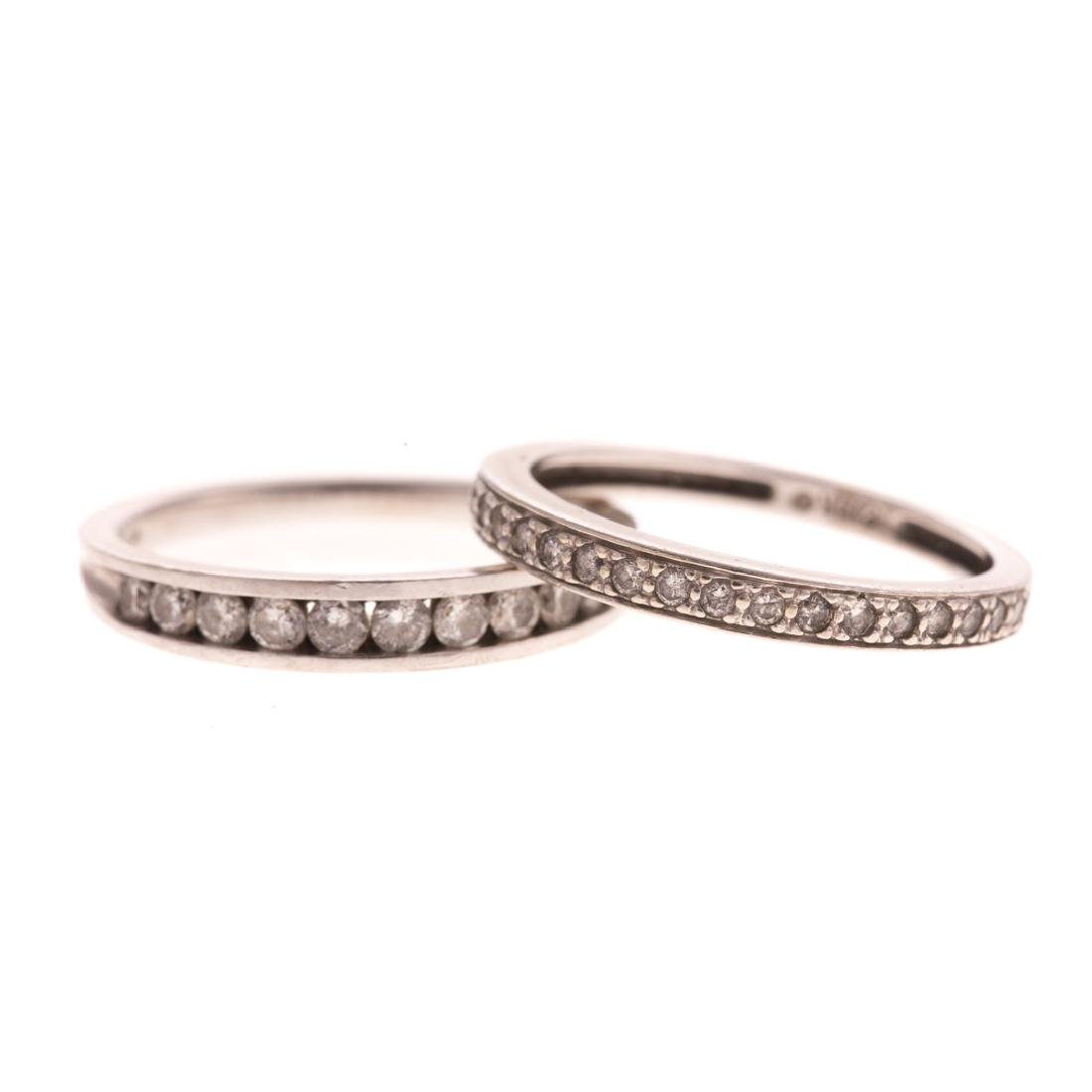 Two Lady's Diamond Wedding Bands in 14K Gold