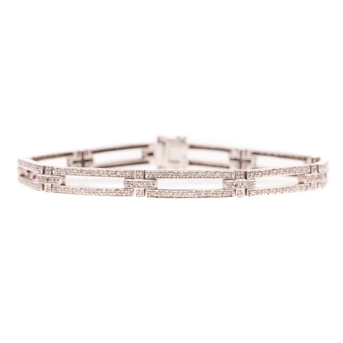 A Lady's White Gold Diamond Bracelet & Ring - 2