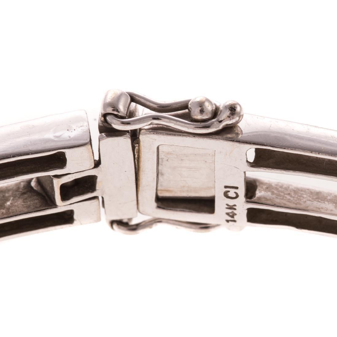 A Lady's White Gold Diamond Bracelet & Ring - 4