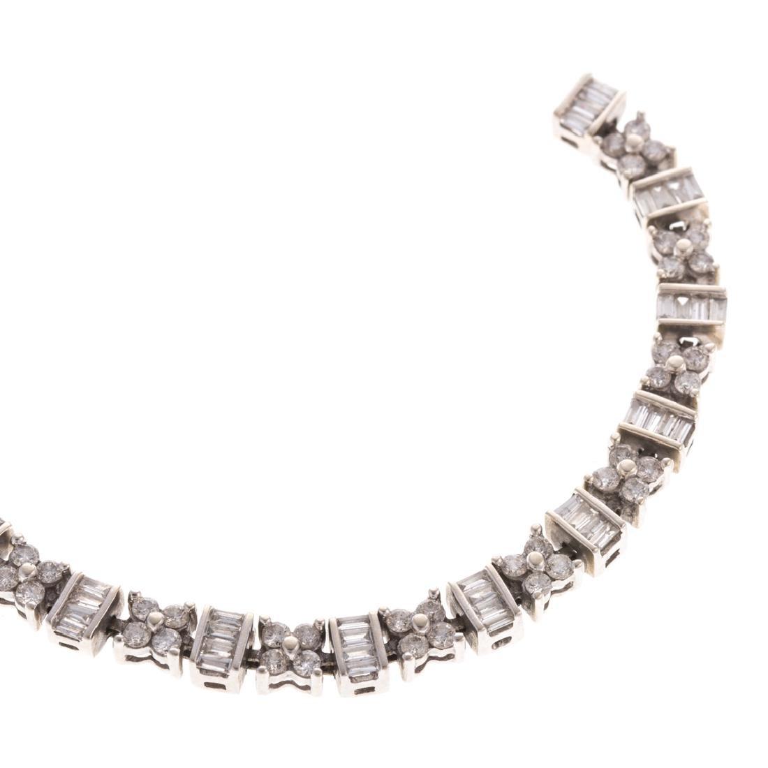 A Lady's Classic 14K Diamond Line Bracelet - 2
