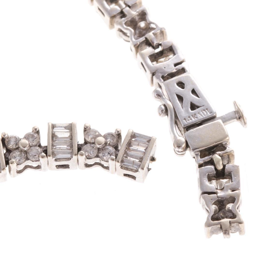 A Lady's Classic 14K Diamond Line Bracelet - 3