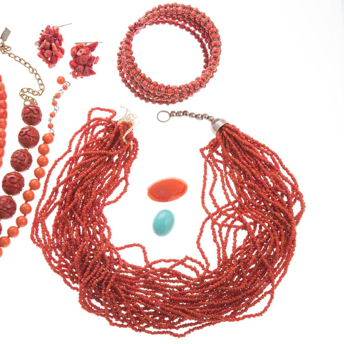 A Collection of Lady's Coral Jewelry - 2