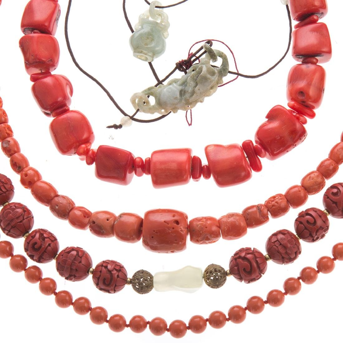 A Collection of Lady's Coral Jewelry - 3