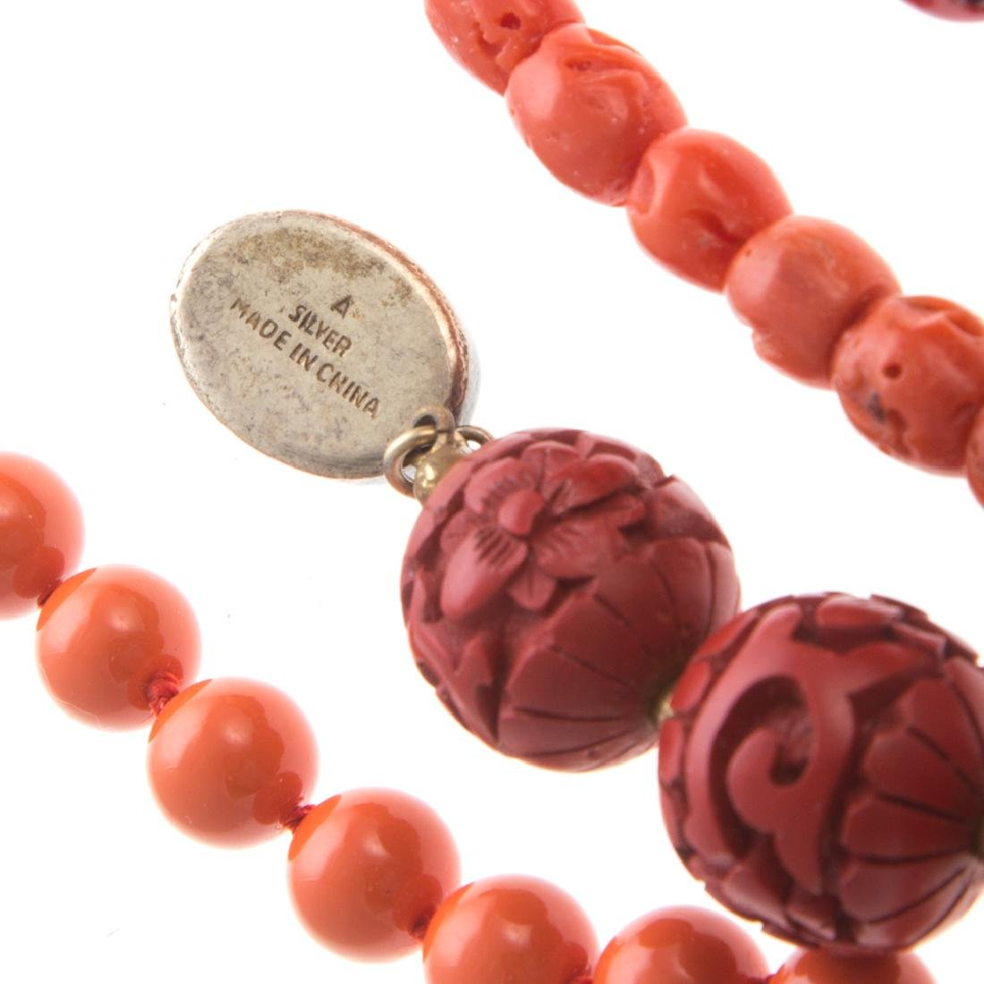 A Collection of Lady's Coral Jewelry - 5