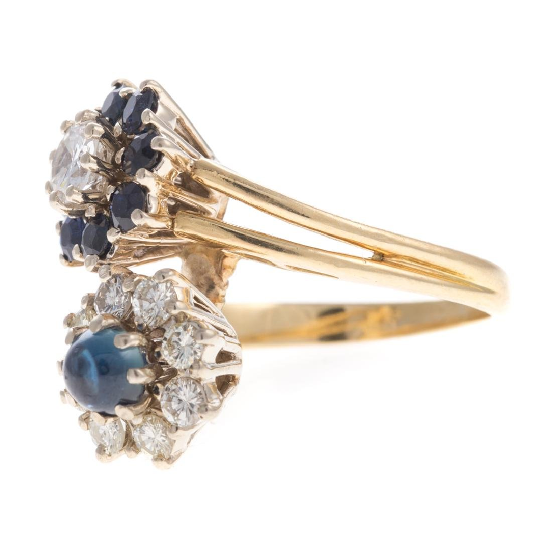 A Lady's Sapphire & Diamond Ring in 18K - 2
