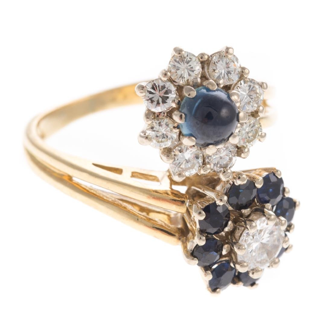 A Lady's Sapphire & Diamond Ring in 18K - 5