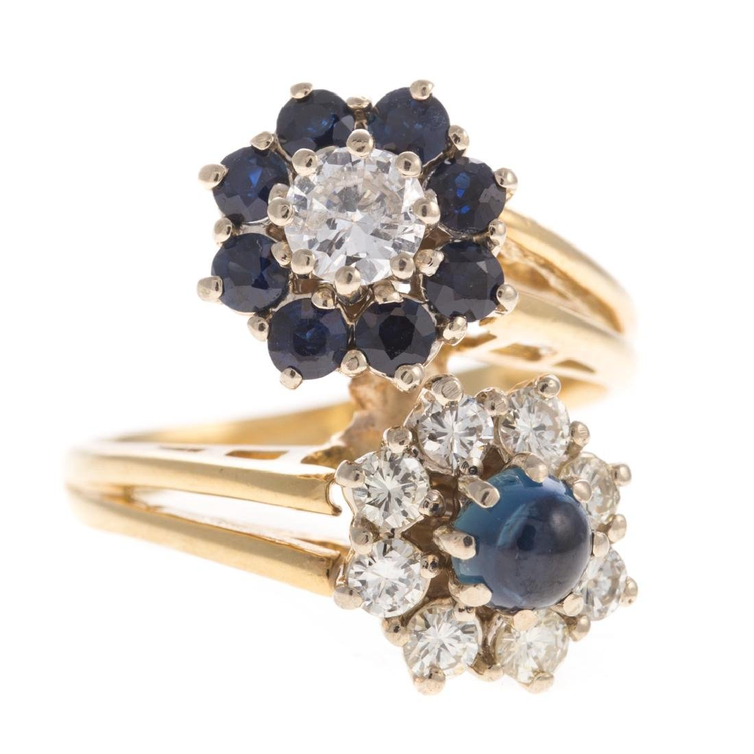 A Lady's Sapphire & Diamond Ring in 18K - 6