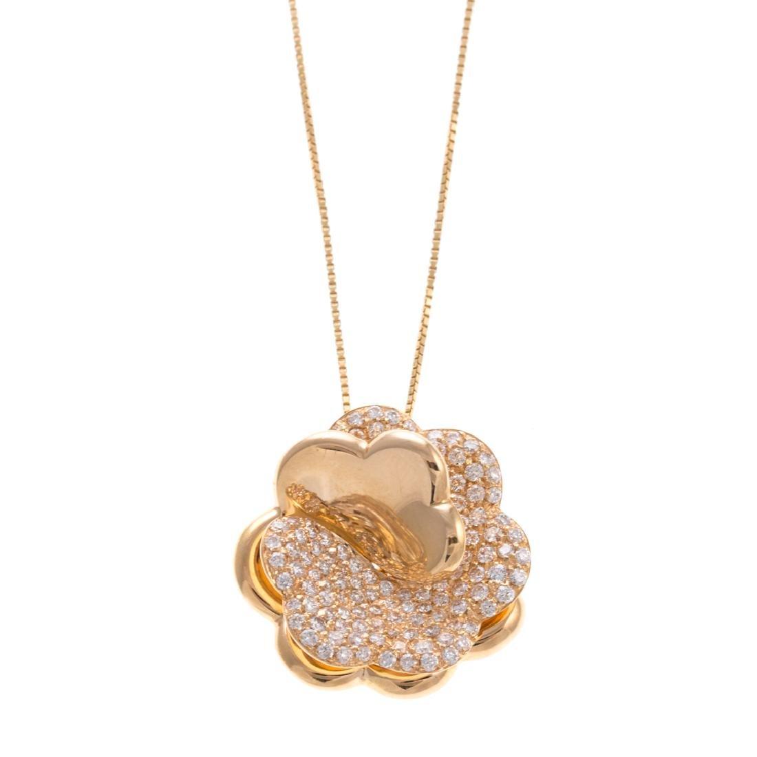 A Giorgio Visconti Diamond Flower Necklace in 18K