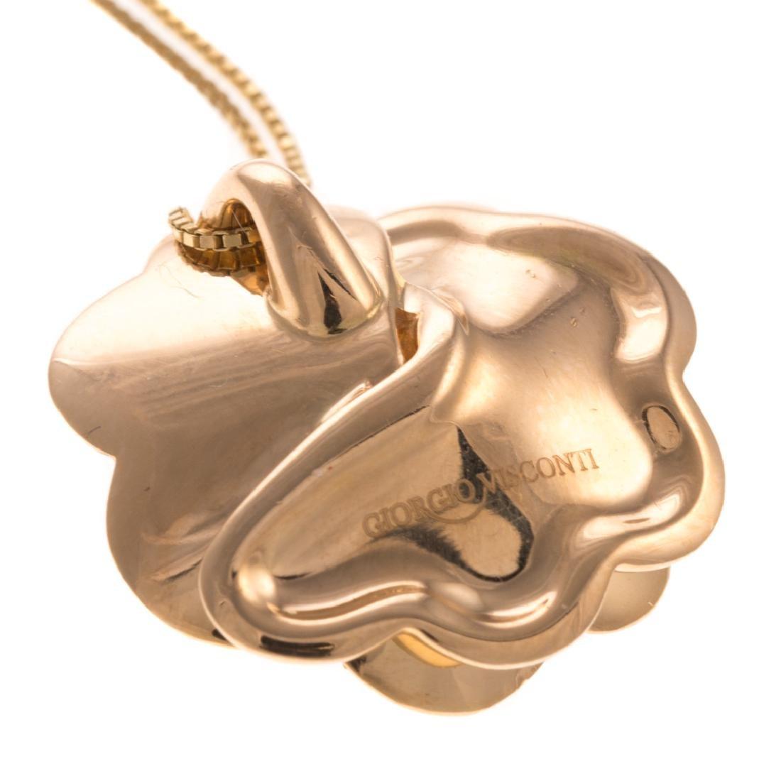 A Giorgio Visconti Diamond Flower Necklace in 18K - 4