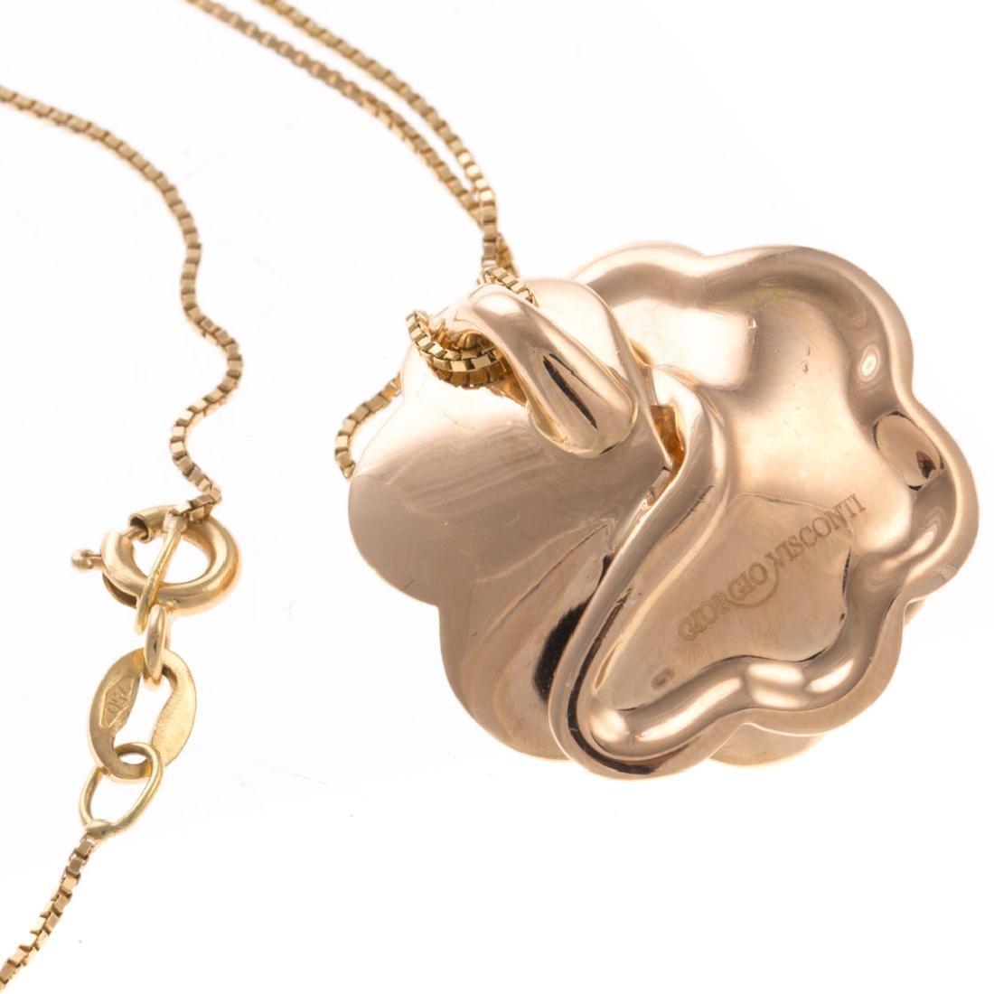 A Giorgio Visconti Diamond Flower Necklace in 18K - 5