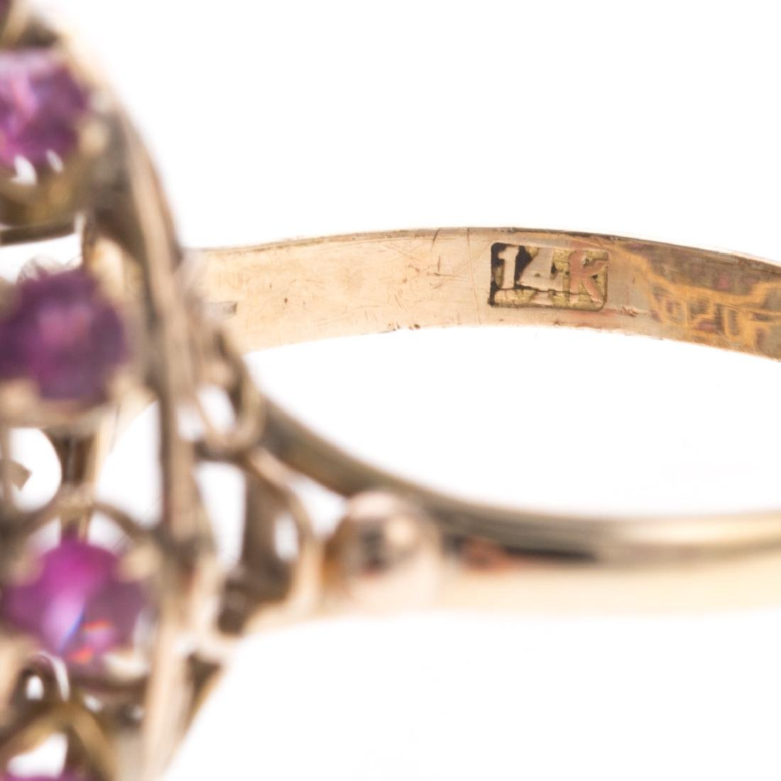 A Pair of Lady's Pearl & Gemstone Cluster Rings - 3