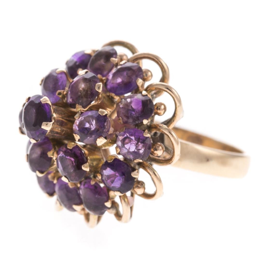 A Lady's Amethyst Ring & Earrings - 4
