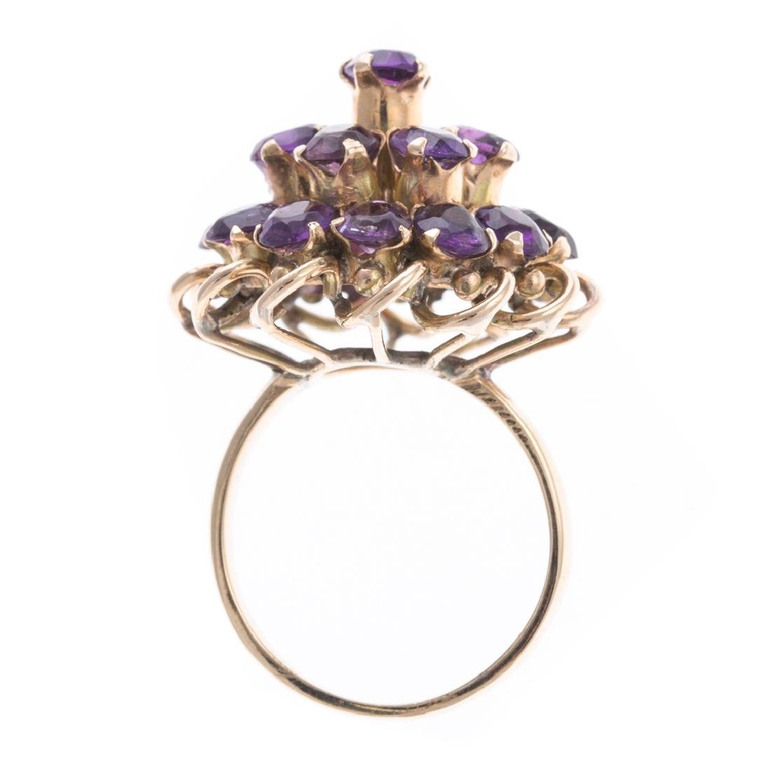 A Lady's Amethyst Ring & Earrings - 5