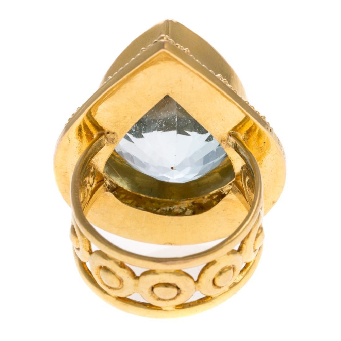 A Lady's Statement 22K Blue Topaz Ring - 4