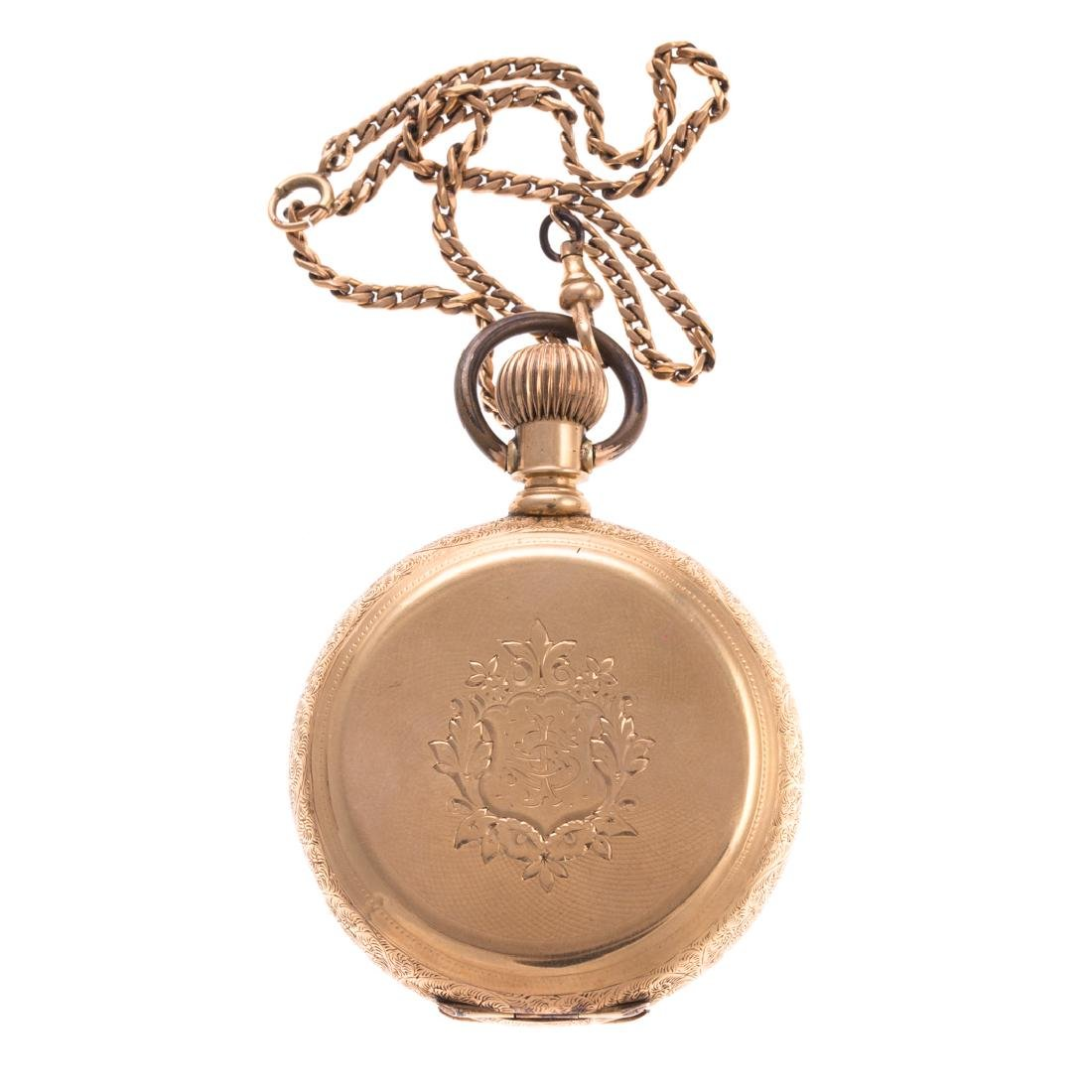 A Gent's 14K Elgin Hunter Case Pocket Watch
