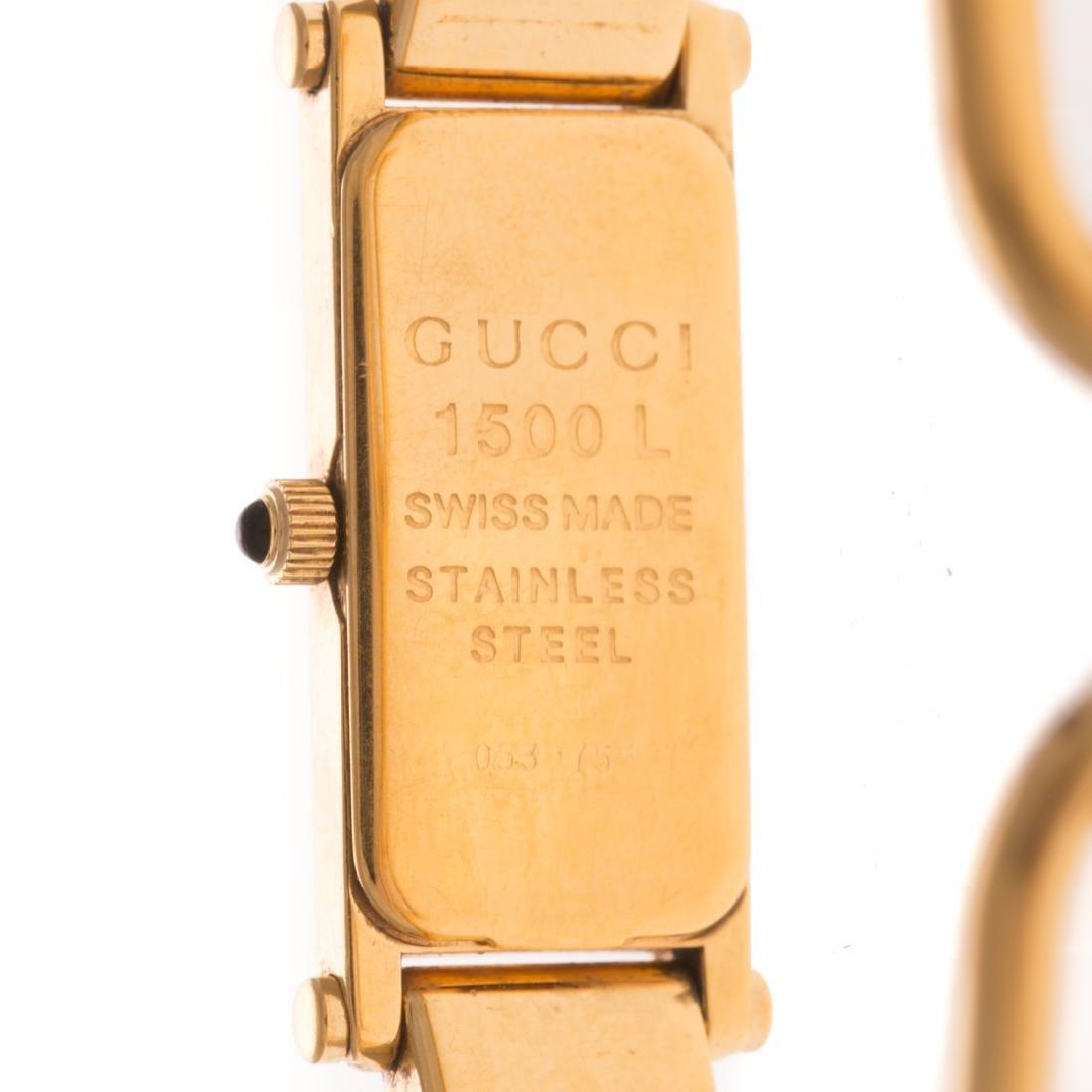 A Lady's Gucci Gold Bracelet Watch - 4
