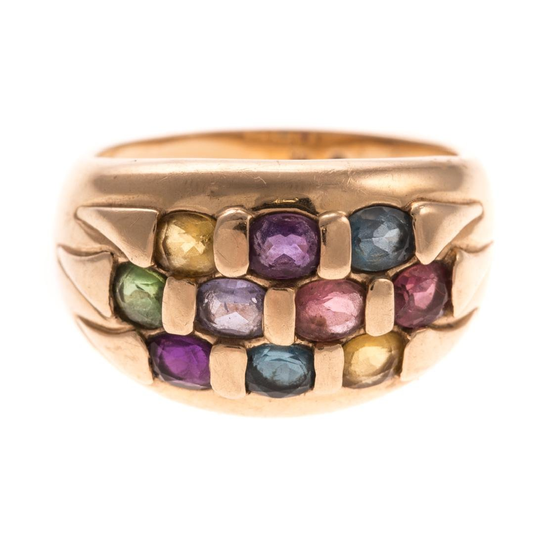 A Lady's Multi Gemstone Ring in 14K Gold